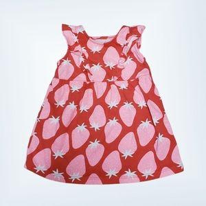 Okie Dokie Casual Strawberry Print Dress